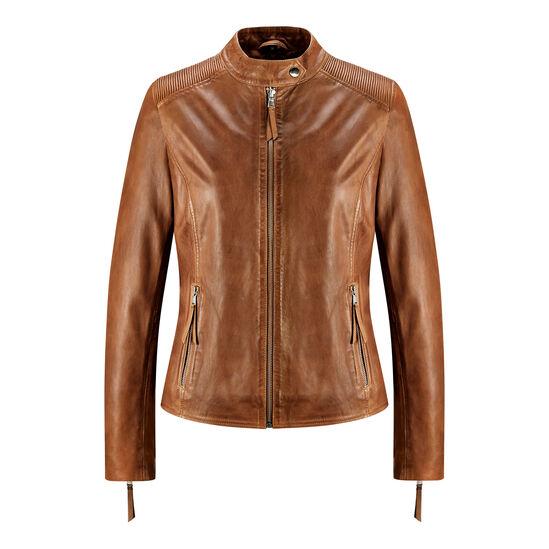 e4b8a18e2a giacca biker in vera pelle