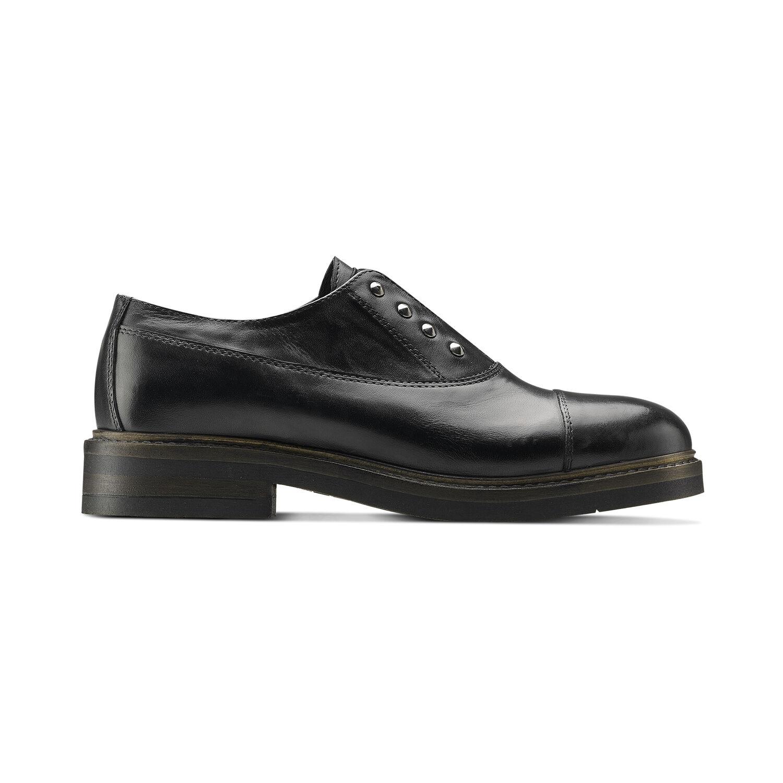 Scarpe basse senza lacci con borchie