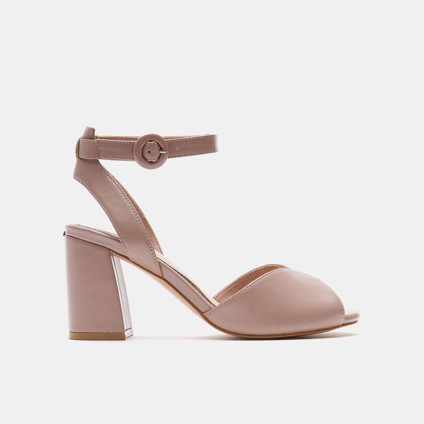 sandali con tacco largo
