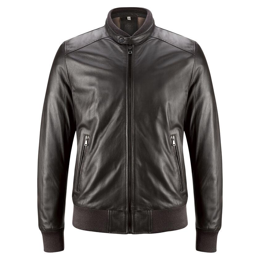 buy popular 956d9 c1c4d Giubbotto in pelle da uomo