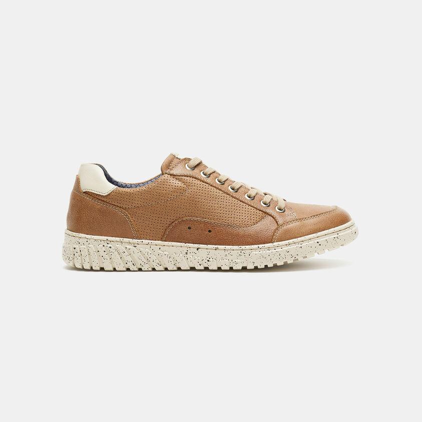 Sneakers in pelle traforata