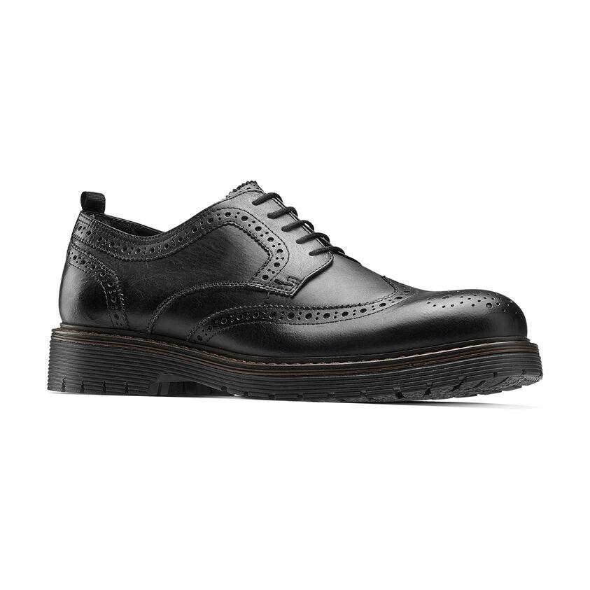 39b885be481c scarpe brogue con suola alta Nero | Bata
