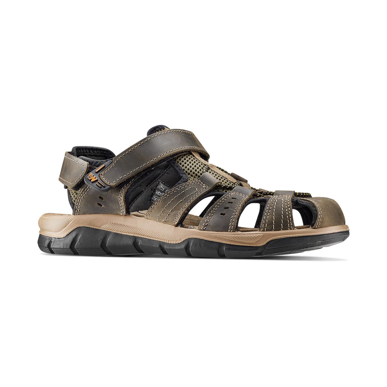 Weinbrenner sandalo uomo in pelle resistente e flessibile