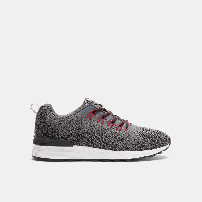 Sneakers da uomo effetto maglia