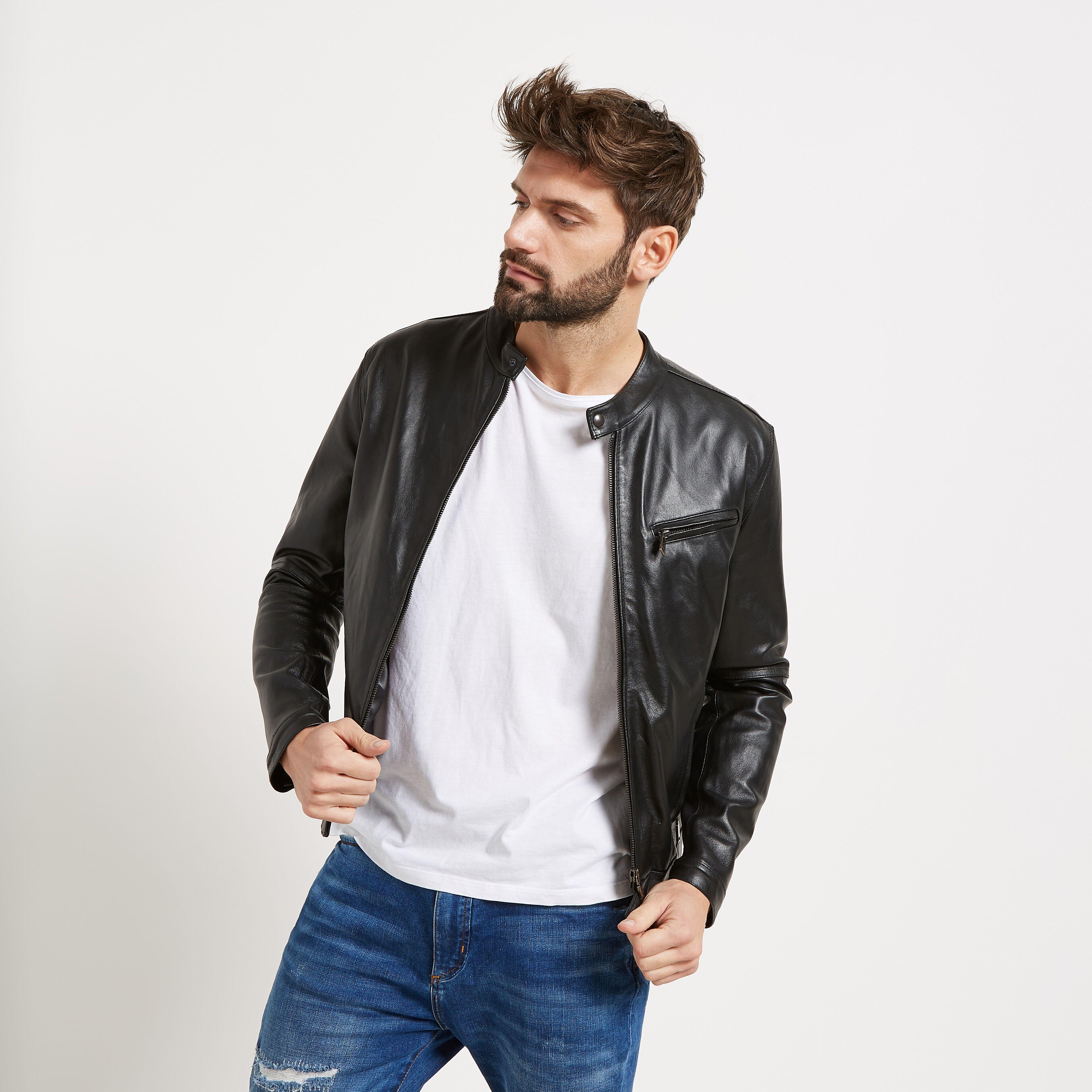 giacche in pelle da uomo